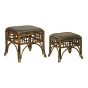 Sterling Industries 58226-50809 Wood/Vinyl Ottoman, Bronze