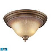 Elk Lighting Lawrenceville 5829319-2-LED9 9 2 Light Flushmount, Mocha