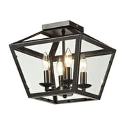 "Elk Lighting Alanna 58231506-49 11"" 4 Light Semi Flush Mount, Oil Rubbed Bronze"