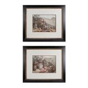 """Sterling Industries """"Campout - Set of 2"""" Framed Wall Art, 24.25""""H x 28.25""""W"""