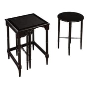 """Sterling Industries 58260032059 24"""" Set of 2 Round/Square Nesting Table, Ebony"""