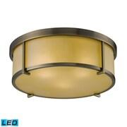 """Elk Lighting 58211485-3-LED9 5"""" 3 Light Flush Mount, Antique Brass"""