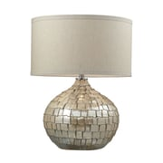 "Dimond Lighting Canaan 582D22649 25"" Incandescent Table Lamp, Cream Pearl"