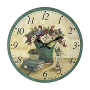Sterling Industries 582118-0339 Bouquet Wall Clock, Yellow Face