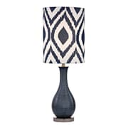 "Dimond Lighting Hitchin 582D25179 24"" Incandescent Table Lamp, Navy Blue with Black Nickel"