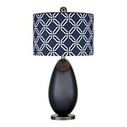 "Dimond Lighting Sevenoakes 582D25219 25"" Incandescent Table Lamp, Navy Blue with Black Nickel"