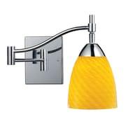 "Elk Lighting Celina 210151-1PC-CN9 14"" 1 Light Swing Arm Lamp, Canary Shade"