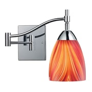 "Elk Lighting Celina 58210151-1PC-M9 14"" 1 Light Swing Arm Lamp, Multi Shade"