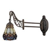 Elk Lighting Mix-N-Match 582079-TB-219 12 x 7 1 Light Swingarm Sconce, Tiffany Bronze