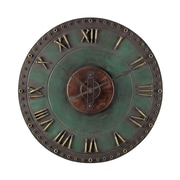 Sterling Industries 582128-10049 Marila Verde with Gold Wall Clock, Green Face