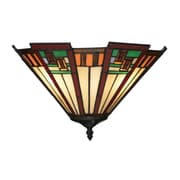"Elk Lighting Oak Bridge 58270115-29 9"" x 15"" 2 Light Wall Sconce, Tiffany Bronze"
