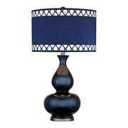 "Dimond Lighting Heathfield 582D25169 28"" Incandescent Table Lamp, Navy Blue with Black Nickel"