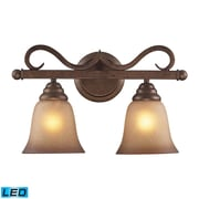 "Elk Lighting Lawrenceville 5829321-2-LED9 7"" x 16"" 2 Light Vanity, Mocha"
