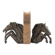 Sterling Industries 582148-007-S29 Set of 2 Bascule Decorative Bookends, Bronze