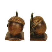 Sterling Industries 58291-49609 Set of 2 Muir Woods Acorn Decorative Bookends, Brown