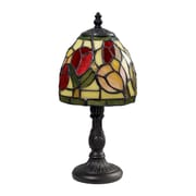 "Dimond Lighting Mini Tiffany 582126-00119 12"" Incandescent Mini Table Lamp, Tiffany Bronze"