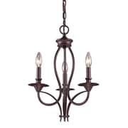 """Elk Lighting Medford 58261031-39 19"""" 3 Light Chandelier, Oiled Bronze"""