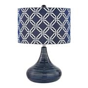"Dimond Lighting Peebles 582D25199 21"" Incandescent Table Lamp, Navy Blue"