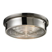 "Elk Lighting Flushmounts 58211443-39 5"" 3 Light Flush Mount, Polished Nickel"