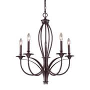"""Elk Lighting Medford 58261032-59 28"""" 5 Light Chandelier, Oiled Bronze"""
