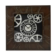 Sterling Industries 582130-0079 Edgemoor Distressed Hand Painted Large Wall Clock, Black Face