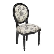 Sterling Industries Industries 582150-0119 Antique Black/Black and White Fabric Side Chair