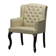 Sterling Industries Industries 582133-0079 Mahogany/Cream Arm Chair