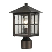 "Elk Lighting Shaker Heights 5828201EP-709 11"" 1 Light Post Mount, Hazelnut Bronze"