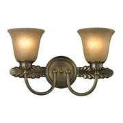 """Elk Lighting Ventura 58211424-29 10"""" x 18"""" 2 Light Vanity, Antique Brass"""