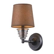 "Elk Lighting Insulator Glass 58266821-19 13"" x 7"" 1 Light Wall Sconce, Weathered Zinc"