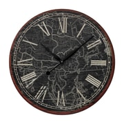 Sterling Industries 58226-86649 Grattan Map Of The Work Printed Wall Clock, Black Face