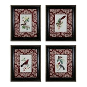 Sterling Industries Cuvier Exotic Birds - Set of 4 Framed Wall Art, 38H x 32W