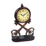 Sterling Industries 58251-02819 Key Desk Clock, Beige Face