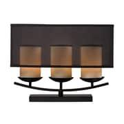"Dimond Lighting Bakersfield 582D23009 18"" Incandescent Table Lamp, Bronze Paint"