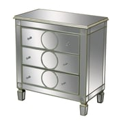 Sterling Industries Derin 58260436179 3 Drawers Accent Chest, Silver