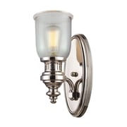 "Elk Lighting Chadwick 58266780-19 15"" x 7"" 1 Light Wall Sconce, Polished Nickel"