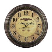 Sterling Industries 582118-0259 Violettes De Parme Wall Clock, Brown Face
