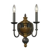"""Elk Lighting French Country 58214185-29 Wall Sconce 13"""" x 10"""" 2 Light Wall Sconce, Vintage Rust"""