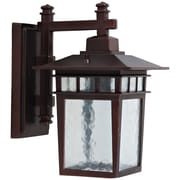 "Yosemite Home Decor 12.25"" x 7"" Steel & Glass Wall mount Outdoor Lamp"