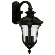 "Yosemite Home Decor 28"" x 13.75"" Glass Tori 3 Light Outdoor Wall Lantern"