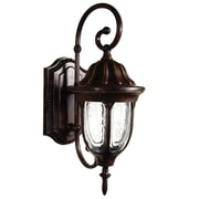 "Yosemite Home Decor 6.5"" Steel Two-Light Exterior Sconce"