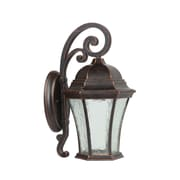 "Yosemite Home Decor 13"" x 9"" Steel & Glass 1 Light Wall Lantern, 100 Watts"