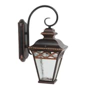 Yosemite Home Decor uncheck Steel & Glass Creek 1 Light Wall Lantern, 100 Watts
