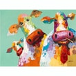 "Yosemite Home Decor Canvas & Wood Revealed Artwork Curious Cows 36"" x 48"""