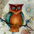 Yosemite Home Decor Canvas Owl I Acrylic Painting 24in. x 24in.