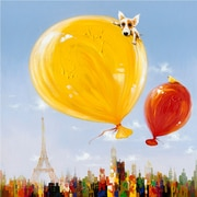 "Yosemite Home Decor Canvas Balloons Over Paris Acrylic Painting 48"" x 48"""