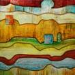 """Yosemite Home Decor Canvas Hand Painted Contemporary Artwork 39"""" x 39"""", V"""