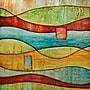 Yosemite Home Decor Canvas Hand Painted Contemporary Artwork