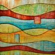 "Yosemite Home Decor Canvas Hand Painted Contemporary Artwork 39"" x 39"", VI"