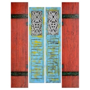 "Yosemite Home Decor Canvas Hand Painted Shutters 69"" x 55"""